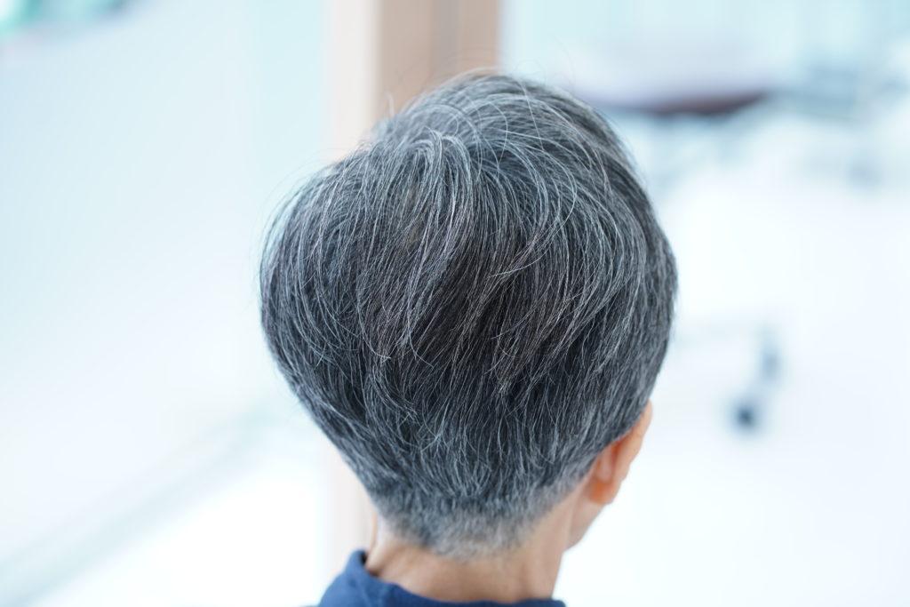 えがお美容室つむじafter,えがお美容室つむじ分かれ,えがお美容室撮影,白髪染め,おしゃれ,明るく染める,えがお美容室,50代,40代,60代,70代